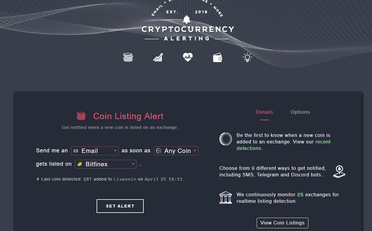 cryptocurrencyalerting