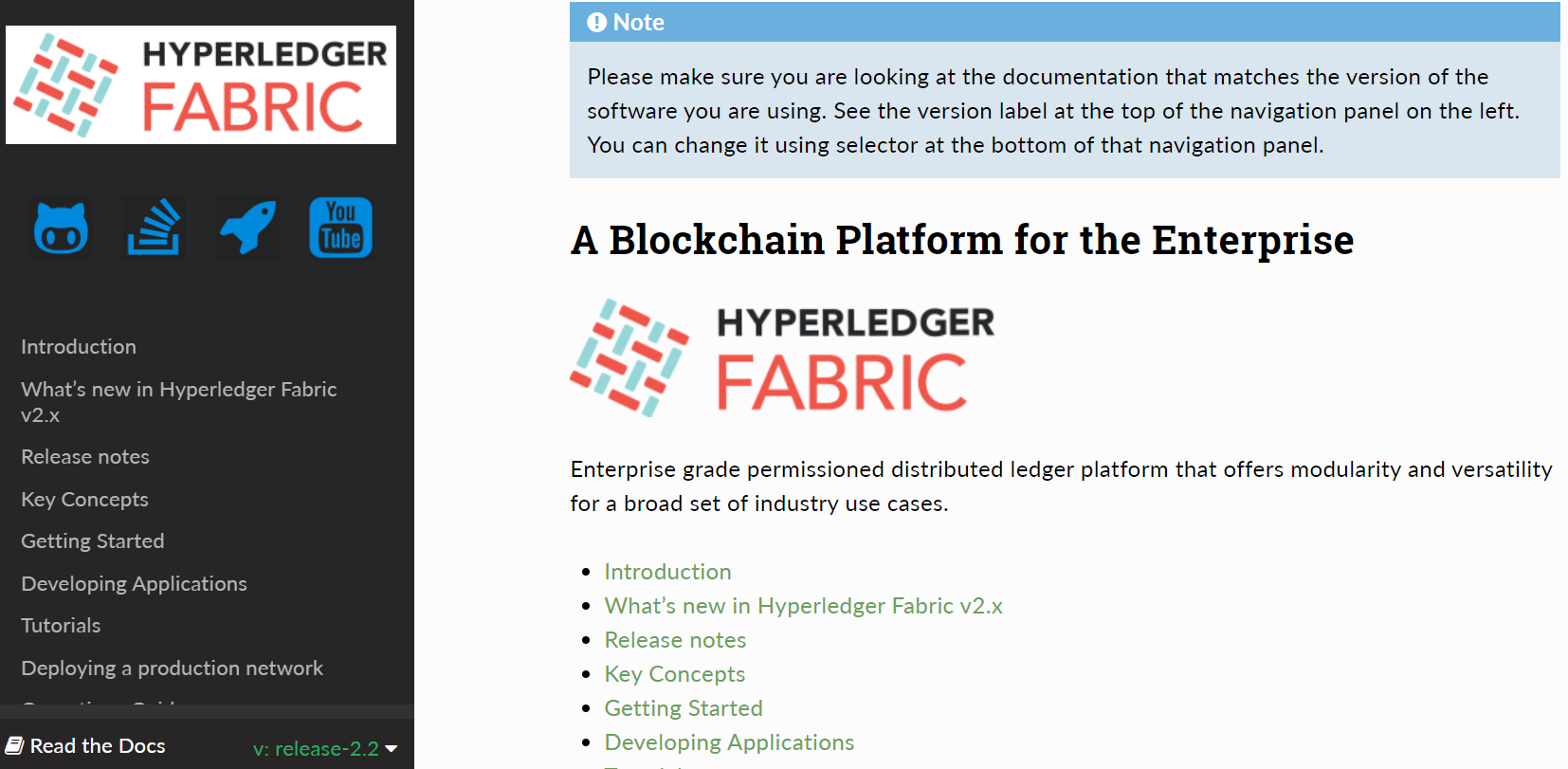 Hyperledger Fabric 官方文档