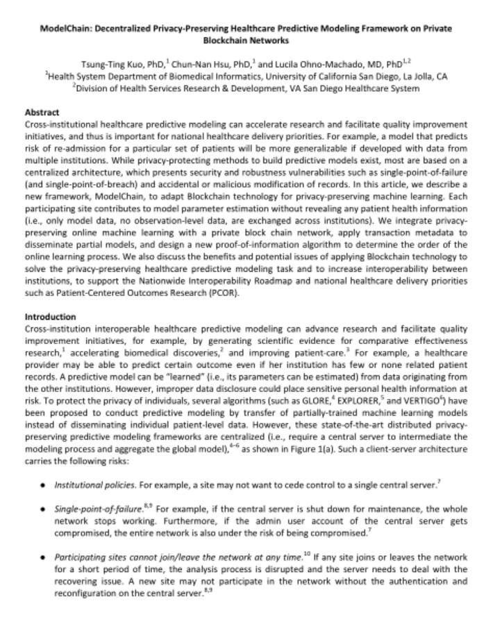 区块链医疗研究论文(美国英文版)